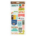 Pebbles - Happy Day Collection - Cardstock Stickers - Phrases and Labels