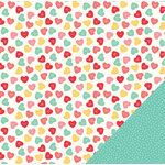 Pebbles - We Go Together Collection - 12 x 12 Double Sided Paper - U R Sweet