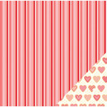 Pebbles - We Go Together Collection - 12 x 12 Double Sided Paper - Sweet Heart