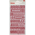Pebbles - We Go Together Collection - Thickers - Foam Alphabet Stickers - Rosy Red
