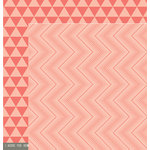 Pebbles - Cottage Living Collection - 12 x 12 Double Sided Paper - Ombre Waves