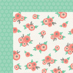 Pebbles - Cottage Living Collection - 12 x 12 Double Sided Paper - Dotted Blossoms
