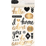 Pebbles - Cottage Living Collection - Puffy Stickers - Phrase