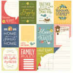 Pebbles - Homegrown Collection - 12 x 12 Double Sided Paper - Family Time