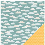Pebbles - Homegrown Collection - 12 x 12 Double Sided Paper - Partly Cloudy