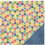 Pebbles - Homegrown Collection - 12 x 12 Double Sided Paper - Quilt