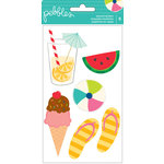 Pebbles - Fun In The Sun Collection - Layered Stickers
