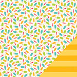 Pebbles - Fun In The Sun Collection - 12 x 12 Double Sided Paper - Popsicle