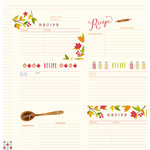 Pebbles - Harvest Collection - 12 x 12 Double Sided Paper - Recipe Cards