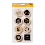Pebbles - Harvest Collection - Wood Stamps