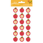 Pebbles - Harvest Collection - Puffy Stickers - Apple
