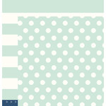 Pebbles - DIY Home Collection - 12 x 12 Double Sided Paper - Soft Blue Classic