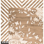 Pebbles - DIY Home Collection - 12 x 12 Double Sided Paper - Ivory Inlay