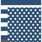 Pebbles - DIY Home Collection - 12 x 12 Double Sided Paper - Navy Blue Classic