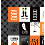 Pebbles - Boo Collection - Halloween - 12 x 12 Double Sided Paper - Happy Halloween
