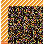 Pebbles - Boo Collection - Halloween - 12 x 12 Double Sided Paper - Trick-Or-Treat