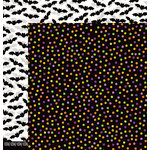 Pebbles - Boo Collection - Halloween - 12 x 12 Double Sided Paper - Confetti