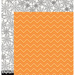 Pebbles - Boo Collection - Halloween - 12 x 12 Double Sided Paper - Candy Corn