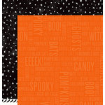 Pebbles - Boo Collection - Halloween - 12 x 12 Double Sided Paper - Spooky
