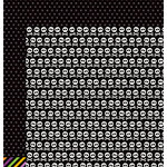 Pebbles - Boo Collection - Halloween - 12 x 12 Double Sided Paper - Skull and Crossbones