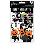 Pebbles - Boo Collection - Halloween - Chipboard Stickers