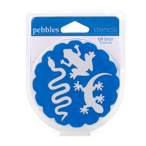 American Crafts - Pebbles - Chalk Stencils - All Boy