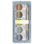 American Crafts - Pebbles - Metallic Chalk Set - 10 Piece - Cream Precious Metals
