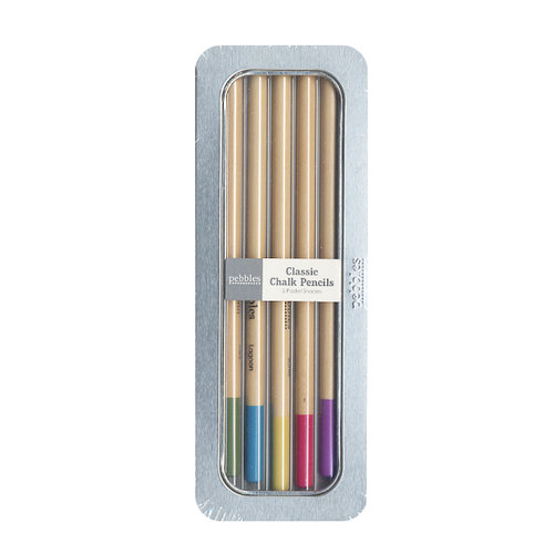 American Crafts - Pebbles - Chalk Pencil Set - 5 Piece - Classic - Pastels