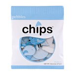 American Crafts - Pebbles - New Arrival Collection - Chips - Chipboard Pieces - Boy