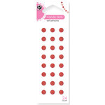 American Crafts - Pebbles - Self Adhesive Candy Dots - Red, CLEARANCE