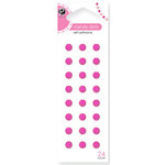 American Crafts - Pebbles - Self Adhesive Candy Dots - Raspberry, CLEARANCE
