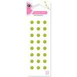 American Crafts - Pebbles - Self Adhesive Candy Dots - Spring Green, CLEARANCE