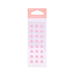 American Crafts - Pebbles - New Arrival Collection - Self Adhesive Candy Dots - Pearl - Baby Pink