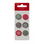 American Crafts - Pebbles - Welcome Christmas Collection - Fabric Brads