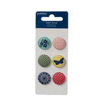 American Crafts - Pebbles - Fresh Goods Collection - Fabric Brads