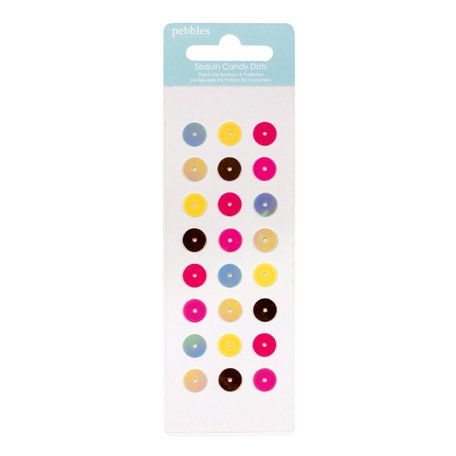 American Crafts - Pebbles - Hip Hip Hooray Collection - Self Adhesive Candy Dots - Circle Sequins