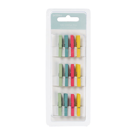 American Crafts - Pebbles - Hip Hip Hooray Collection - Clothes Pins