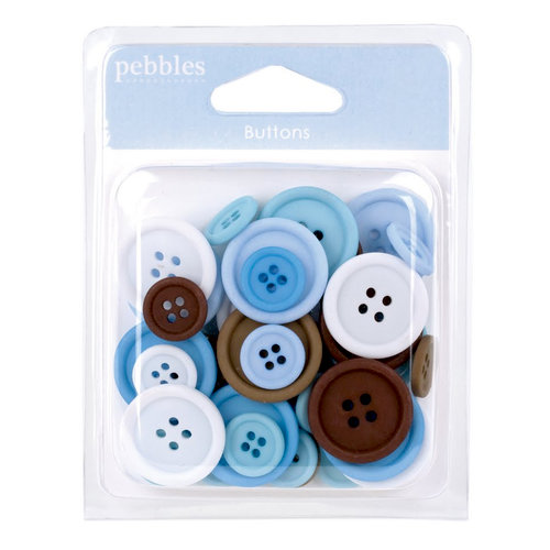 American Crafts - Pebbles - New Arrival Collection - Buttons Boy