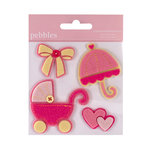 American Crafts - Pebbles - Layered Felt Embellishments - Baby Girl