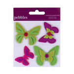 American Crafts - Pebbles - Layered Felt Embellishments - Butterflies