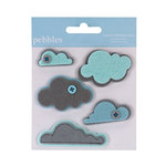 American Crafts - Pebbles - Layered Felt Embellishments - Clouds