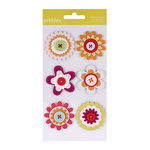 American Crafts - Pebbles - Happy Go Lucky Collection - Chipboard Flowers