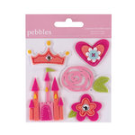 American Crafts - Pebbles - Ever After Collection - Felt Embellishments - Girl