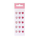 American Crafts - Pebbles - Ever After Collection - Heart Brads