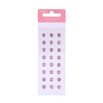 American Crafts - Pebbles - Ever After Collection - Self Adhesive Candy Dots - Jewels - Light Pink