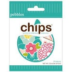 American Crafts - Pebbles - Floral Lane Collection - Chips - Chipboard Pieces