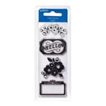 American Crafts - Pebbles - Fresh Goods Collection - Clear Acrylic Stamps - Hello