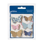 American Crafts - Pebbles - Fresh Goods Collection - 3 Dimensional Butterflies
