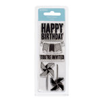 American Crafts - Pebbles - Hip Hip Hooray Collection - Clear Acrylic Stamps - Small