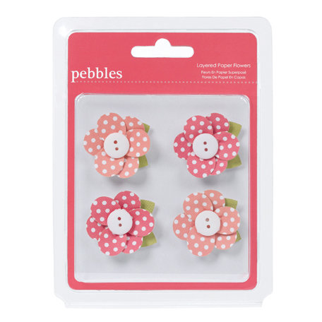 American Crafts - Pebbles - Country Picnic Collection - 3 Dimensional Flowers